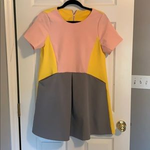 Color block dress with pockets